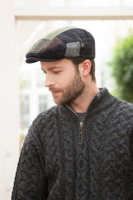 Homme Casquette Kerry Wool Patchwork