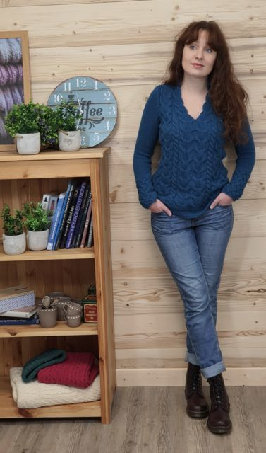 LUXE IRELAND LAINE & CACHEMIRE Horseshoe sweater