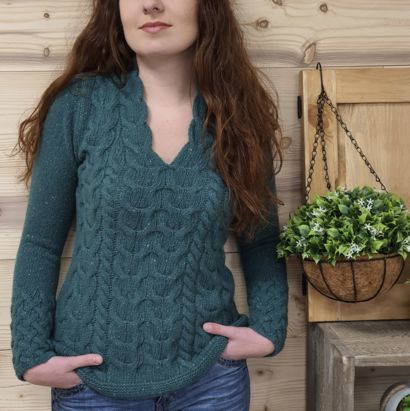 LUXE IRELAND Horseshoe sweater
