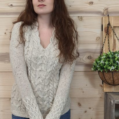 COLLECTION LUXE IRELAND LAINE & CACHEMIRE Horseshoe sweater