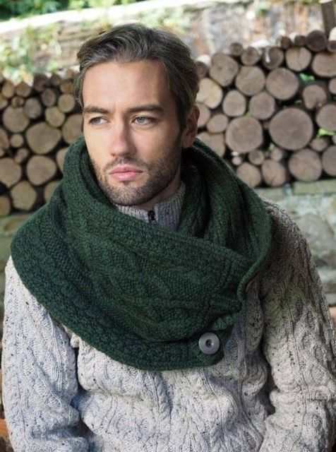 Homme New snood en super soft merino wool