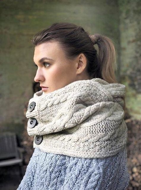 "Femme New snood ""super soft mérino wool"""