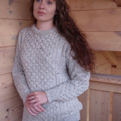 Femme Pull traditionnel col rond en pure laine Mérinos