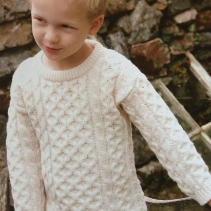 Enfant Traditionnel pull irlandais