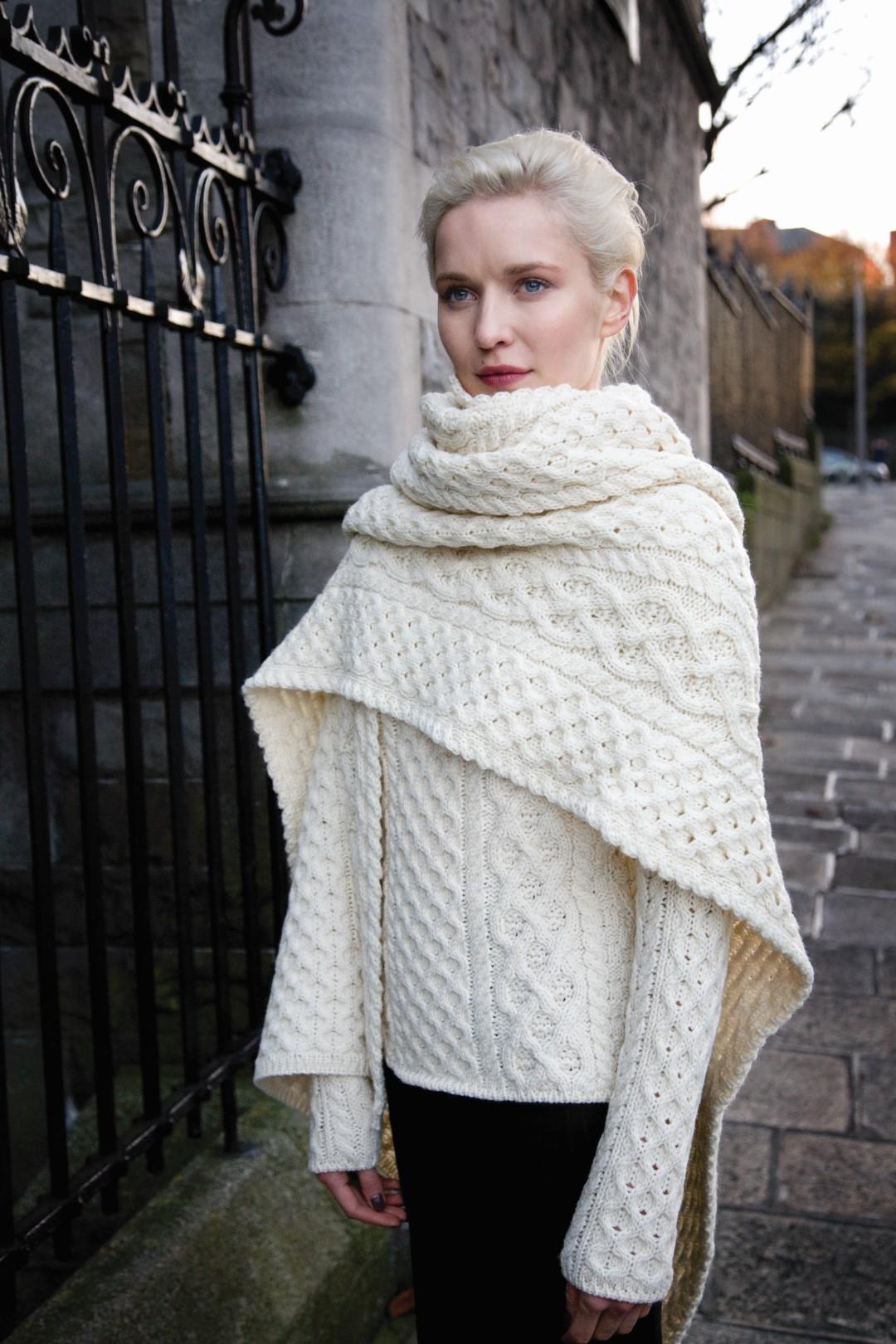 esthétique de luxe codes promo artisanat exquis Grande étole couverture irlandaise chaude laine mérinos