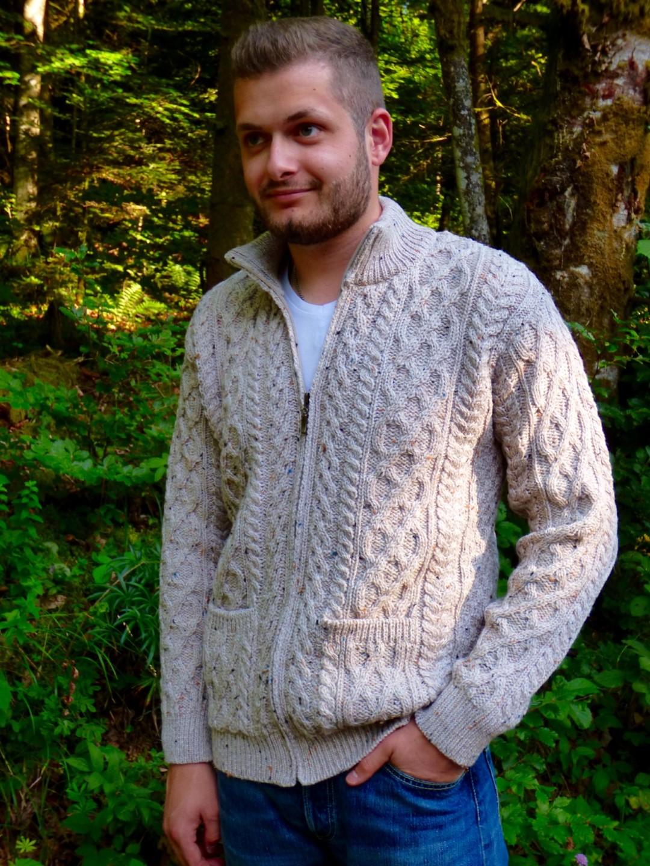 Gilet homme zippé en laine 3a3d9e16c375