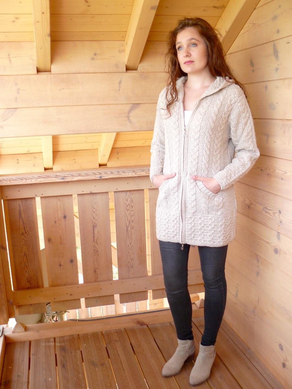 Gilet femme laine fermeture eclair